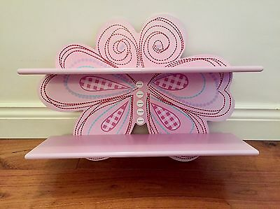 Beautiful Pink Wooden Butterfly Shelves From Next