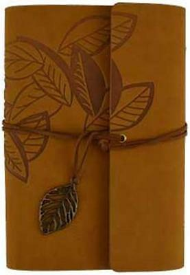 "Soft Brown Leather Suede ""Leaft"" Book of Shadows, Journal, Diary!"