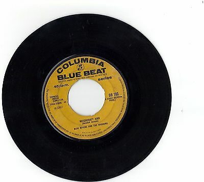 """Rare Reggae  vinyl 45 7""""  Blue Rivers and the Maroons Witchcraft Man   Blue Beat"""