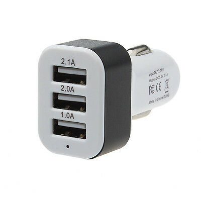 New Car Universal 12V 24V To 5V 3Port USB Charger Adapter For Smart phone GPS A6