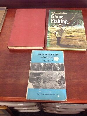 Three Vintage Fishing Books Game Salmon And Freshwater Angling