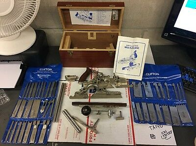 Rare CLIFTON MULTI PLANE Very Expansive Set W Box & 40 Cutters Instructions