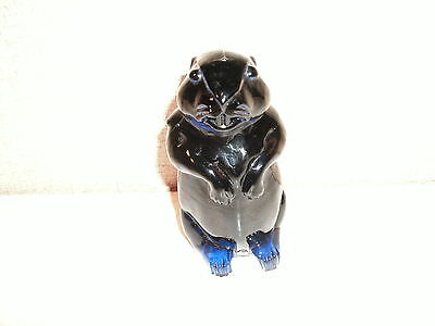 Imperial I G Cobalt Marmota Sentinal Woodchuck Groundhog Paperweight