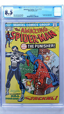 Amazing Spider-Man #129 CGC 8.5 VF+   1st Appearance Punisher
