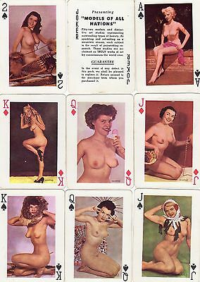 """VINTAGE PACK of RARE """"Lovely Ladies - 1950`s Models of All Nations"""" Play Cards"""