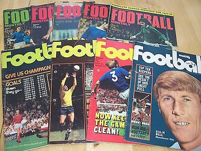 9 Issues 1971 Of Charles Buchan's Football Monthl