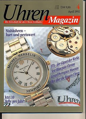 Uhren Magazin April 4/1992