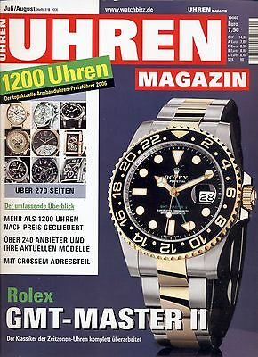 Uhren Magazin Juli/August 7-8/2006