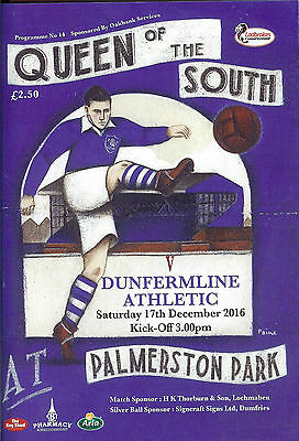Queen Of The South V Dunfermline Athletic - Scottish League - December 2016