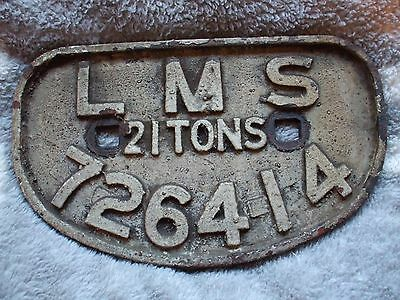 """A wagon plate """"LMS 21 Tons 726414"""""""