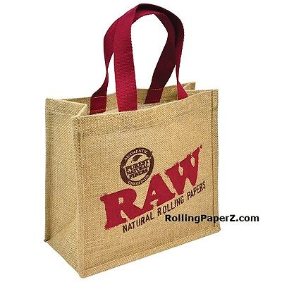 RAW Rolling Papers BURLAP Carry All TOTE BAG - Limited Edition Collectible