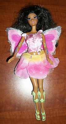 Barbie Fairytopia Elina AA Doll Light Up Butterfly Fairy Wing Rooted Eyelash