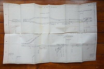 1973 Rowsley Buxton Extension Railway Track Plan Gowhole