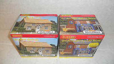 Hornby Skaledale R9718 Golden Disc Store & R8976 Yew Tree Cottage new unopened