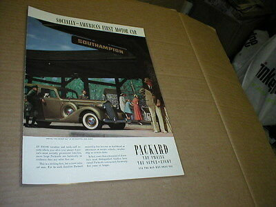 1937 Packard The Twelve - The Super Eight  - PRINT AD Advertisement - LAMINATED