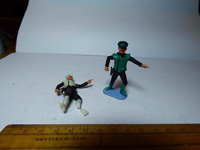 Vintage Timpo Lieutenant Green Excellent Condition Plus Colonel White (Damaged)