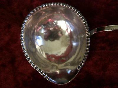 Antique English Solid Sterling Silver 925 Toddy Ladle Turned Handle Spoon