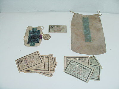 U.S.Marine & Blackwell's Durham 1904 coupons,bags,stamps