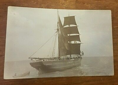 postcard sussex littlehampton harbour SPRY real photo shipping