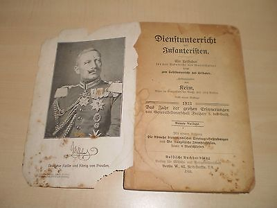 1914 Wartime German Military Illustrated Manual/Book 'Lessons Of The Infantry'