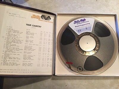 """Broadcast music programming Media General/Tanner library reel 1/4"""" tape CY-2"""