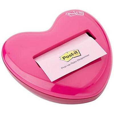 Post-it Pop-up Notes Dispenser for 3 x 3-Inch Notes, Pink, Heart Shape New