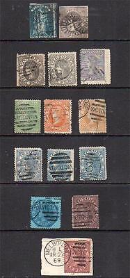 Australia : Victoria State Early Stamps Used Very Good Lot A1