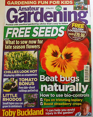 Amateur Gardening Magazine May 24th 2014 Topiary Strawberry Tomatoes Chillies