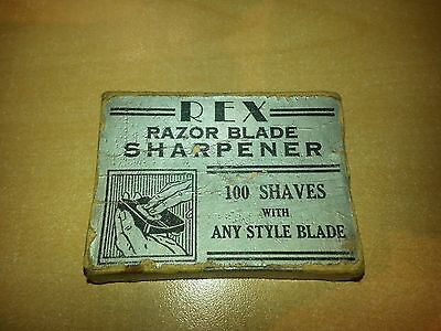 Rex Razor Blade Sharpener With Instructions On Back Of Oversleeve