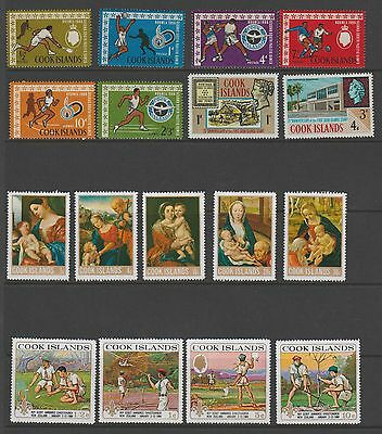 COOK ISLANDS  - VERY NICE LOT OF 64 x STAMPS (MNH) - INCLUDES MANY COMPLETE SETS