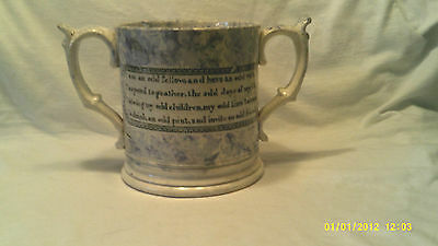 Antique C 1760 Frog & Lizard Loving Cup-Mug Can Read Invoice