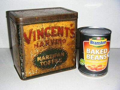 Old Vincent's Marzipan Toffee Tin