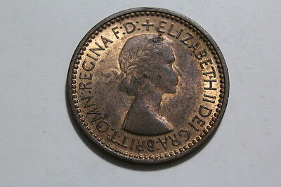 1953 QEII Farthing with lots of lustre 1+ A Scarce