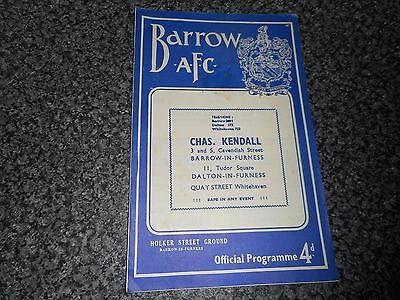 BARROW  v  ROCHDALE  1959/60  DIVISION 4 ~ SEPTEMBER 28th  *****FREE POST*****