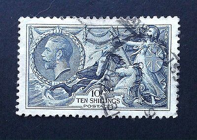 GB George V 10/- Re-engraved Seahorse - Used  (cat Value £80)
