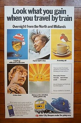 1977 Inter City Sleepers Original Railway Travel Poster