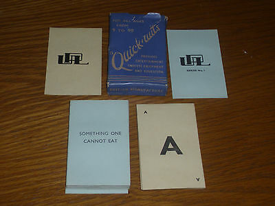Vintage Playing Cards Upl Series 2 Quick Wits 4 To 40 Players 72 Cards Rules Box