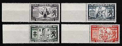 Luxembourg 1945 Thanks To The Allies Set Mnh