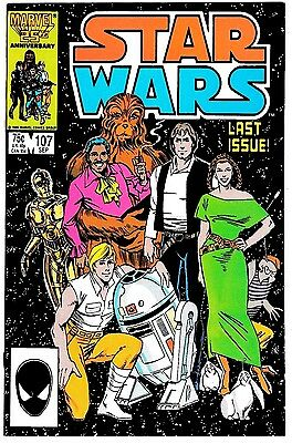 STAR WARS #107 (NM-) Last Issue! Hard to Find! High Grade! Marvel 1986
