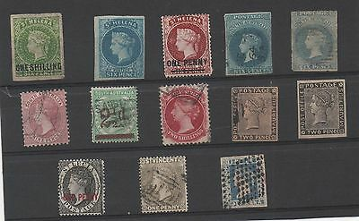 South Australia - St Helena - Mauritius -St Lucia -St Vincent- India -13 Timbres