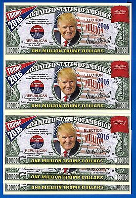 Trump 2016 Make America Great Again Set Five (5) Uncirculated Banknotes