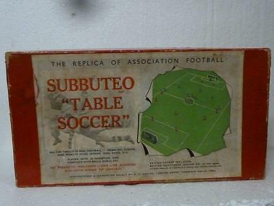 SUBBUTEO Table Soccer Boxed and parts Vintage