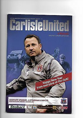 Carlisle United  v  Walsall, 3rd January 2009