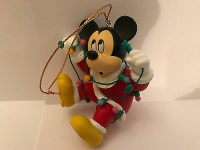 Disney ~ Grolier ~ Mickey Mouse ~ Christmas Ornament Real Old From 80's