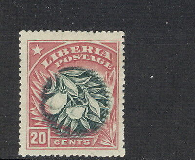 Liberia 1909, 20c flower of pepper plant, INVERTED CENTER, $$ #120a