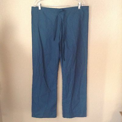 NWT Womens XS X-Small Med + Wear Teal Medical Scrub Drawstring Pants NEW