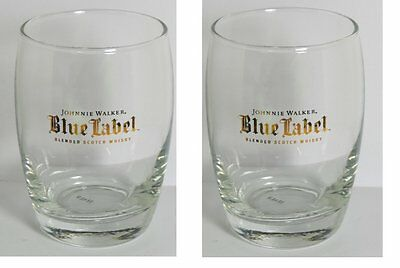 Johnnie Walker Blue Label Blended Scotch Whiskey Glasses - Set of 2
