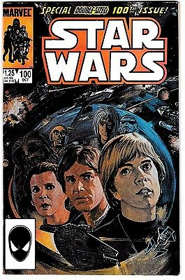 STAR WARS #100 (NM-) Special Double-Sized Issue! Marvel High Grade! 1985