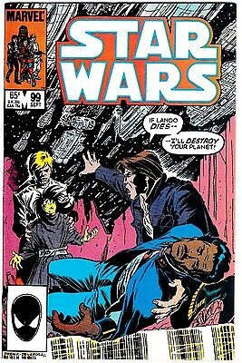 STAR WARS #99 (NM-) Han Solo / Luke Skywalker Cover! Marvel 1985 Nice High Grade