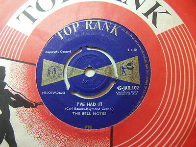 "The Bell Notes – I've Had It 1959 7"" To Rank JAR 102"